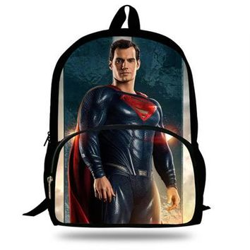 Boys Backpack Bag 16inch Kids Mochila Cool Justice League School Bags Superman  For Travel Bag Girls Gift Teengers Bookbag AT_61_4