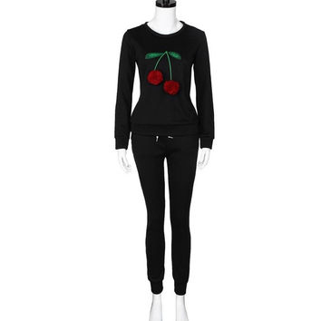 New Fashion Women Sweatshirt Two Piece Set Litchi Pompom Ball   Long Sleeve Tops +Pants Outfit Set Women #02103 GS