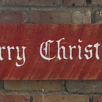 Reclaimed wood sign - Merry Christmas - hand painted - holiday decor