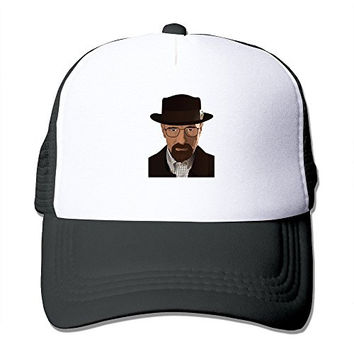 Casual Adult Unisex Breaking Bad Heisenberg 100% Nylon Mesh Caps One Size Fits Most Adjustable Baseball Hat