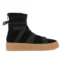 Luxe High Top Creepers Black