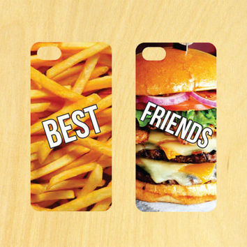 Best Friends Burger and Fries  iPhone 4/4S 5/5C 6/6+ and Samsung Galaxy S3/S4/S5 Phone Case