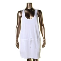 Polo Ralph Lauren Womens French Terry Drawstring Casual Dress
