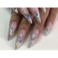 Holo Flame Nail Stickers