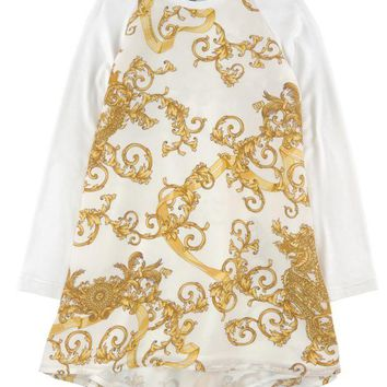 NOV9O2 Versace Girls 'Draco' Dress