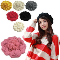 Chic Women Girls Winter Warm Beret Baggy Braided Knit Cap Beanie Crochet Ski Hat = 1958163268