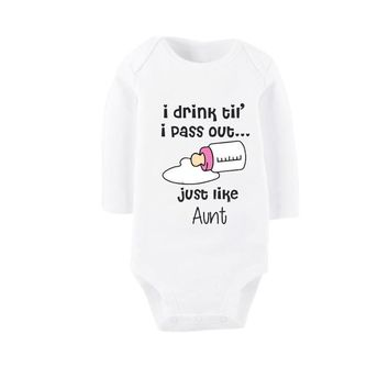Culbutomind I Love My Aunt Spring Long Sleeve Winter Clothes Newborn Aunt Baby Clothes Clothing Baby Rompers Girls