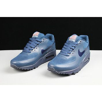 Nike Air Max 90 Flag Dark Blue Men Running Sneaker