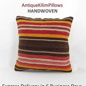 kilim pillow cover cushions oriental pillow case throw pillow urban kilim pillow kilim rug decorative pillow case ethnic pillow cover 000611