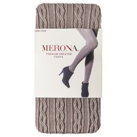 Merona® Women's Cable Sweater Tights - Brown Heather
