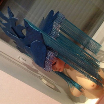 READY TO SHIP Zodiac Aquarius headdress by PoshFairytaleCouture