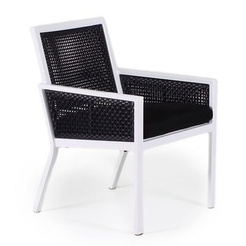Parkview Armchair, Black Wicker, Outdoor Dining Chairs