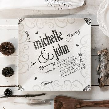 Personalized Name Wedding Charger