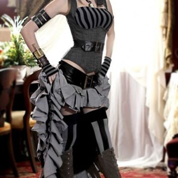 Black and gray Vex skirt