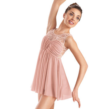 Lace Tank Empire Waist Dance Dress - Balera