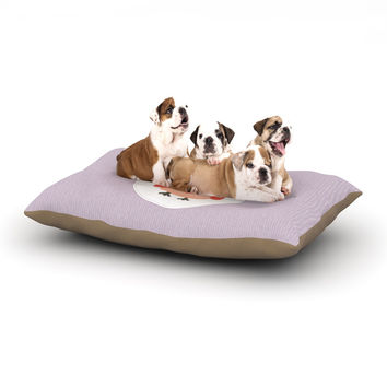 "Daisy Beatrice ""Hipster Owlet"" Purple Dog Bed"