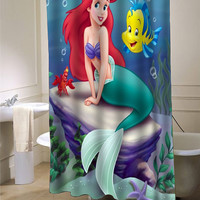 disney little mermaid shower curtain customized design for home decor