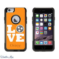 iPhone Otterbox Commuter Series Case for iPhone 5, 5s, 6, 6 Plus Love Tennessee Vols UT Knoxville TN Volunteers Football Tailgate 1131