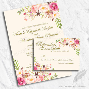 Floral Dream Wedding Invitation Set