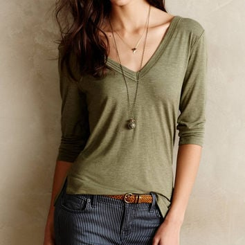 V-Neck Sleeve Shirt Tee