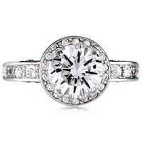 Sterling Silver 925 Round Cubic Zirconia CZ Ring #r031