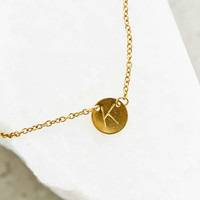 Layering Initial Charm Necklace - Urban Outfitters