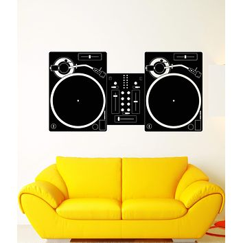 Vinyl Wall Decal DJ Mixer Mixing Console Disco Music Night Club Stickers Unique Gift (1864ig)