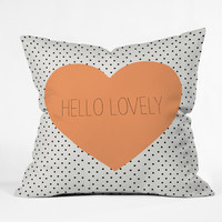 Allyson Johnson Hello Lovely Throw Pillow