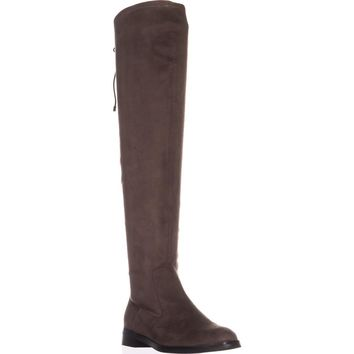 Kenneth Cole REACTION Wind Chime Over-the-Knee Winter Boots, Dark Mushroom, 9.5 US / 40.5 EU
