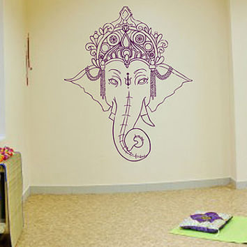 kik443 Wall Decal Sticker Room Decor Wall Art Mural Indian god Ganesha Hinduism welfare bedroom living