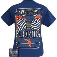 SALE Tied To Florida Gators Big Prep Bow Girlie Bright T Shirt