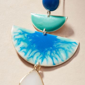 Reflecting Pool Drop Earrings