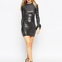 ASOS Disco Ball Mini Bodycon Dress With Cut Out Back at asos.com