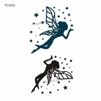TCOOL Butterfly Fairy Women Temporary Tattoo Sticker Waterproof Fashion Fake Body Art Arm Tattoos 10.5X6cm Kids Hand Tatoo A-041