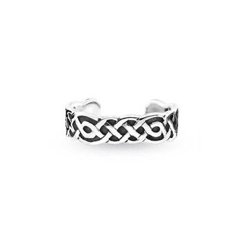 Bling Jewelry Celtic Knot Midi Ring Band Sterling Silver Adjustable Toe Rings