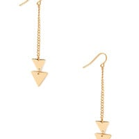 FOREVER 21 Chained Geo Earrings Gold One
