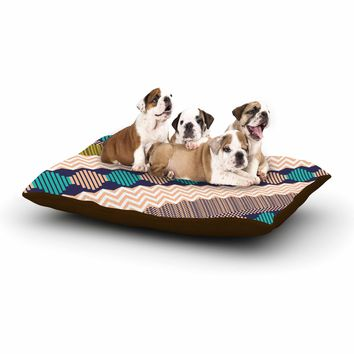 """Akwaflorell """"Knitted 3"""" Coral Teal Pattern Dog Bed"""