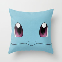 #007 Squirtle - Minimal Pokemon Art Throw Pillow by Jorden Tually Art