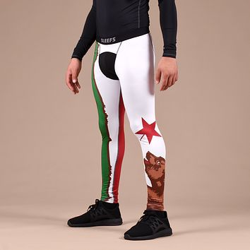 California Beast State Flag Tights for Men