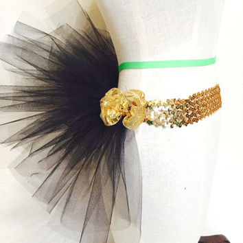 Black half tutu for adult or kids edc/ rave wear
