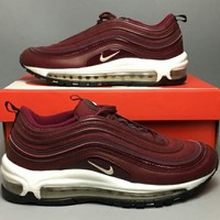 NIKE AIR MAX 97 2018 trendy full palm cushion sports fashion running shoes F-CSXY red