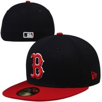 New Era Boston Red Sox Two-Tone 59FIFTY Fitted Hat - Navy Blue/Red