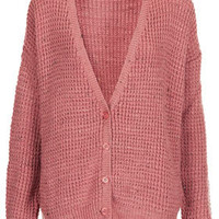 Knitted Nep Stitch Cardi - Cardigans - Knitwear  - Clothing