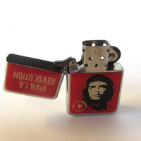 Lighter. Revolution memorabilia. Tobacciana. Cigarette lighter. Che guevara. HM lighter. Vintage.