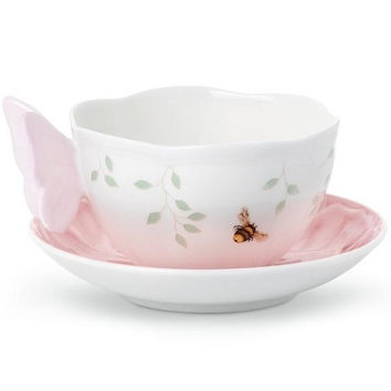 LENOX Butterfly Meadow Pink Cup & Saucer