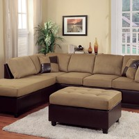 Woodbridge Home Designs Comfort Living 2 Piece Reversible Sectional