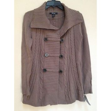 Style & co Petite Cable Knit Cardigan 34252 Rye PS