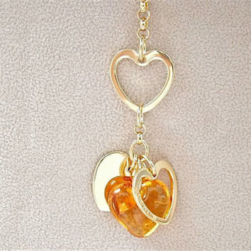 Lalique Crystal Coeur Love Necklace.Heart Necklace