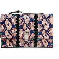 Proenza Schouler - The Lunch Bag small leather-trimmed printed ayers clutch