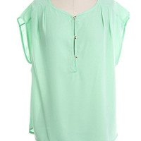 Three Button Short Sleeve Top